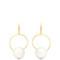 Hoop and sphere drop earrings