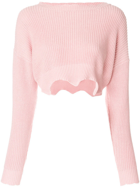 Jovonna jumper women cotton purple pink sweater
