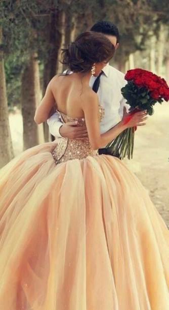 dress champagne prom dress pearl dress wedding dress gold dress sparkly prom dress princess dress princess wedding dresses