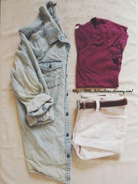 shorts blouse shirt scarf belt jacket denim jacket coat whole outfit fourth july top
