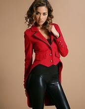 jacket,blazer,red