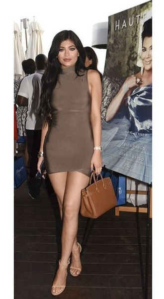 dress dream it wear it clothes taupe taupe dress turtleneck turtleneck dress mini dress bodycon bodycon dress party dress sexy party dresses celebrity style celebrity kylie jenner kylie jenner dress summer dress winter outfits fall outfits fall dress cocktail dress