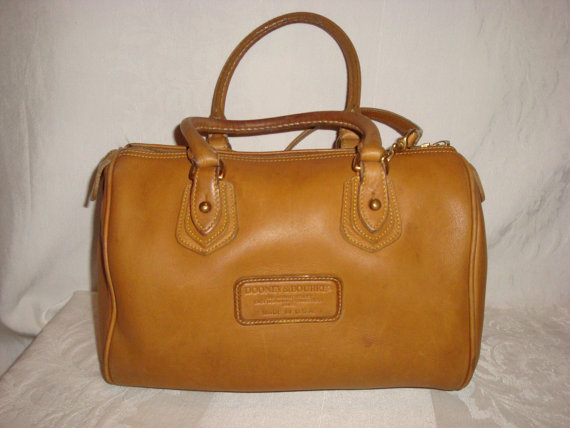 Rare caramel brown leather dooney & bourke by thebestresaleshop