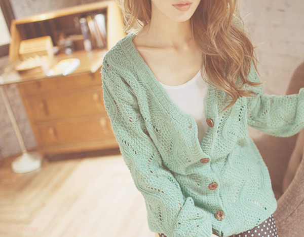 clothes chic sweater cardigan green blue oversized cardigan oversized sweater light weight buttons korean fashion
