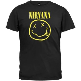 Amazon.com: Nirvana - Mens Smiley T-shirt: Clothing