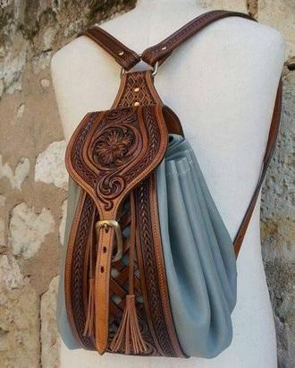 bag blue bag leather bag back bag