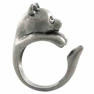 Amazon.com: Enhanced Panda Bear Adjustable Animal Wrap Ring Vintage Silver Tone: Jewelry