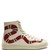 Major snake-appliqué high-top leather trainers