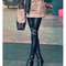 Zipper leather leggings - blogger style, fashion and elegants pants | awesome world - online store