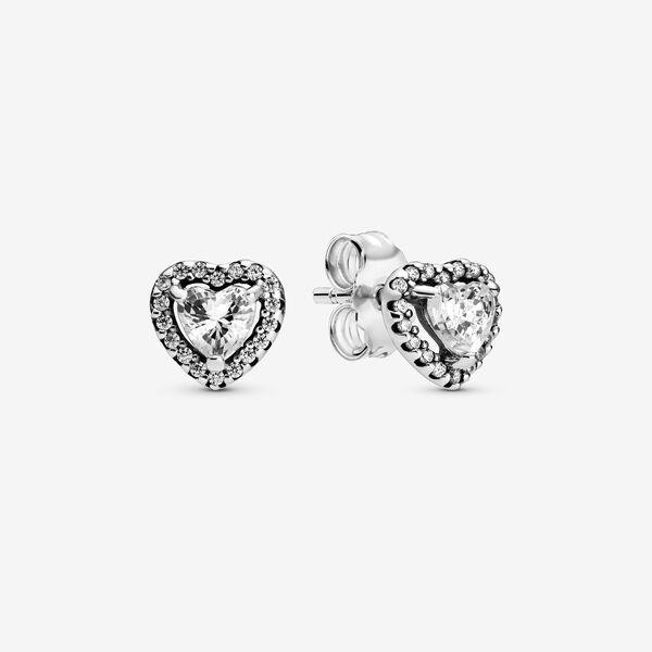 Pandora Elevated Heart Stud Earrings