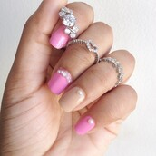 jewels,ring,knuckle ring,silver,heart jewelry,heart,ishopcandy