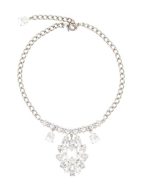 Dolce & Gabbana women necklace grey metallic jewels