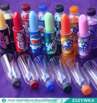 make-up lips coca cola pepi sprite fanta shiny fruity fruits color/pattern tasty lipstick redlipstick lip gloss