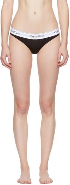 CALVIN KLEIN UNDERWEAR bikini cotton black swimwear