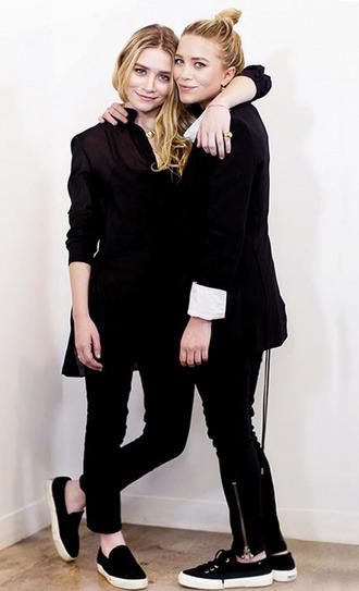 olsen sisters jewels blouse pants shoes jacket shirt jeans