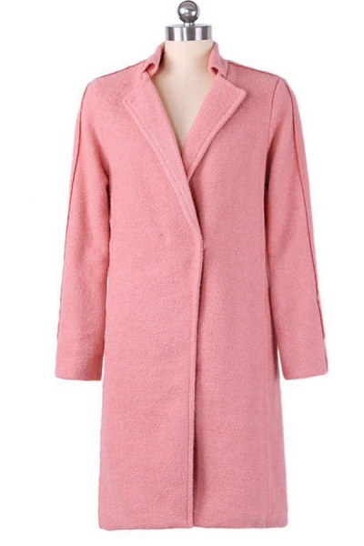 Distinctive Notched Collar Coat - OASAP.com