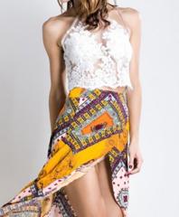 White Catalina Paparazzi Crop Top – Dream Closet Couture