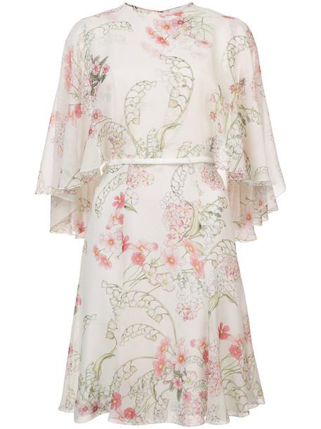 GIAMBATTISTA VALLI dress print dress women floral print silk