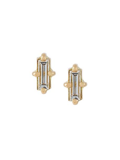 Wouters & Hendrix Gold women earrings gold yellow grey metallic jewels