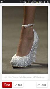 shoes,heels,wedges,sparkle,wedding,high heel pumps,white heels
