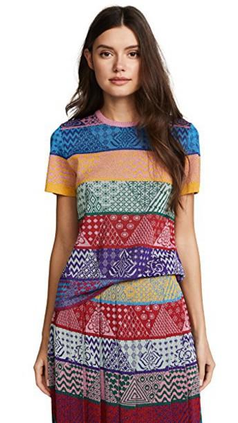 MARY KATRANTZOU top sparkle knit patchwork