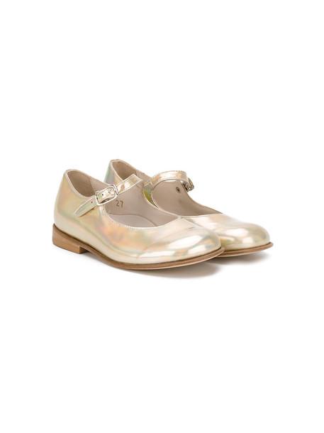 shoes leather grey metallic