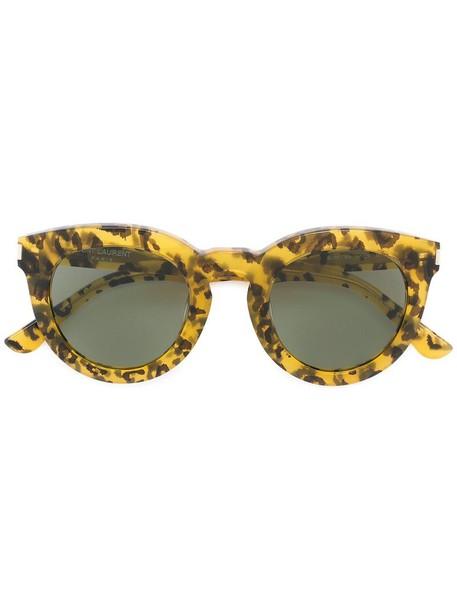 Saint Laurent Eyewear women sunglasses yellow orange