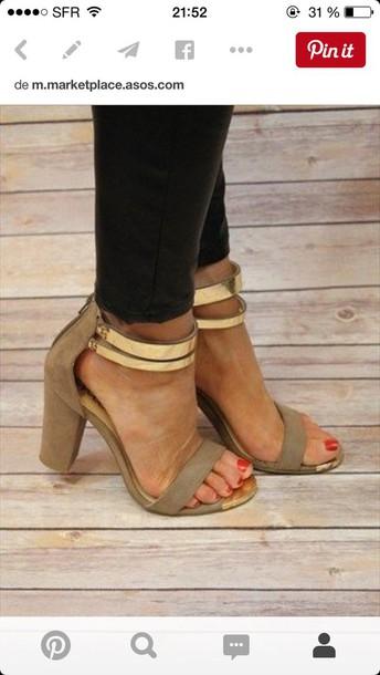 be51bcff987 shoes nude pumps nude sandals tan heels open toes gold heels heels block  heels sandal heels