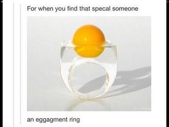 jewels ring humour egg egg ring novelty novelty ring funny