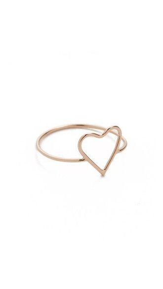 heart rose gold rose ring gold jewels
