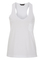 White round neck pocket vest