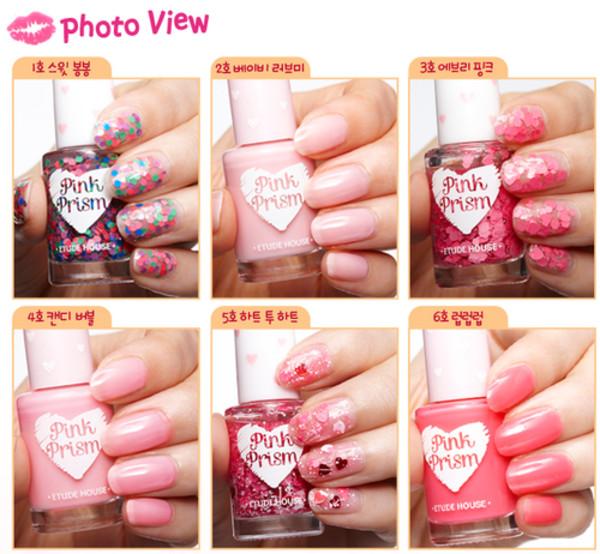 nail polish nails nail polish korean fashion korean fashion pink prism