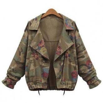 coat camouflage floral jacket blazer