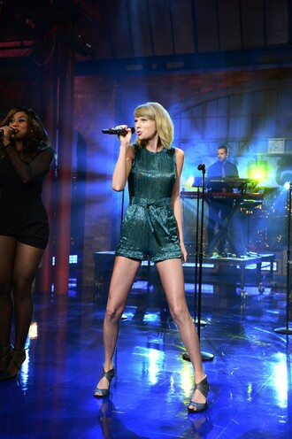 sparkle sandals sequins taylor swift romper