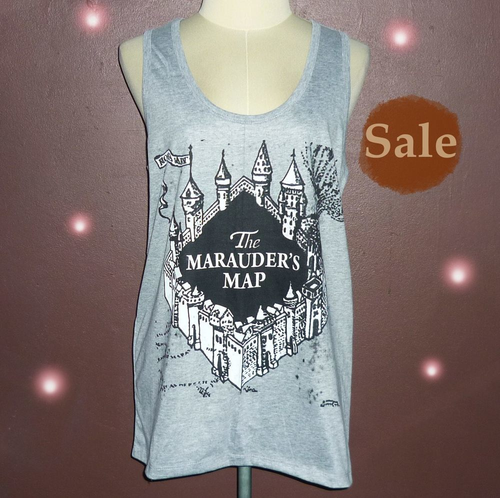 0dbcd603 Workout Shirts — The Marauder's map shirt Harry Potter tank top ...
