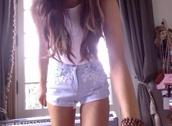 shorts,laced shorts,ariana grande,jewels