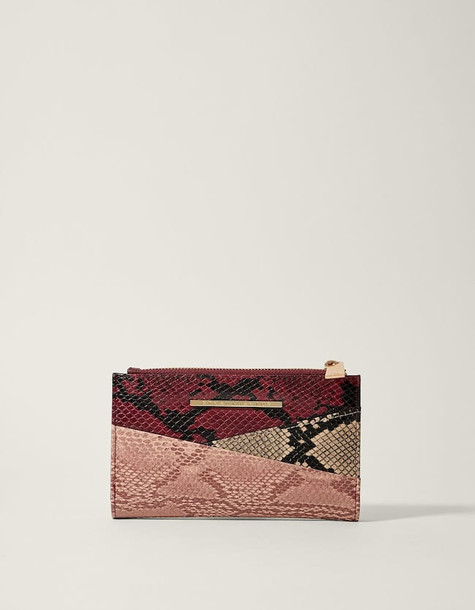 patchwork basic purse burgundy bag