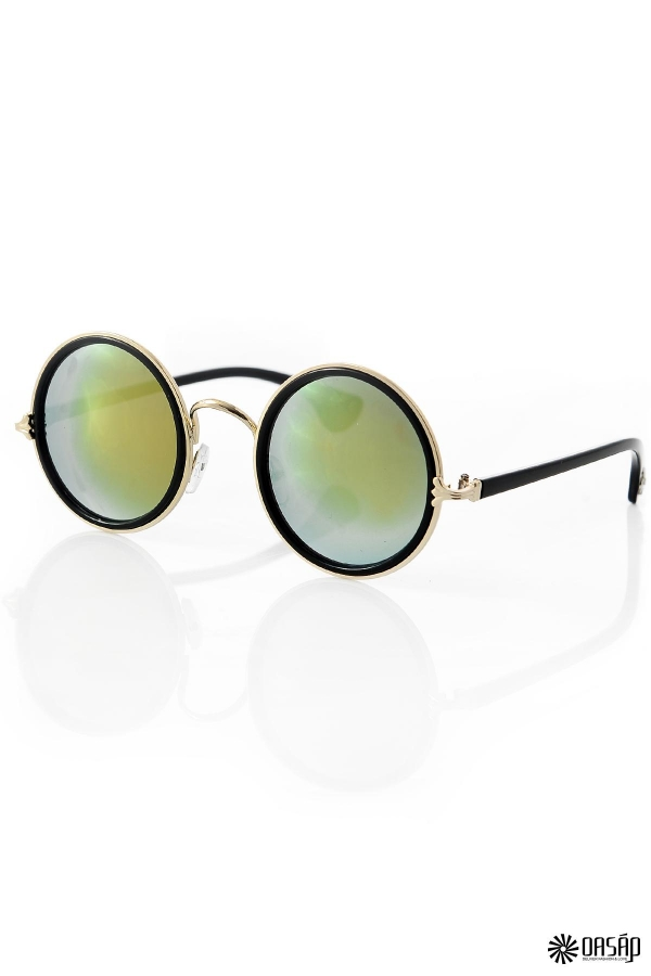 Hot Celebrity Retro Round Sunglasses - OASAP.com