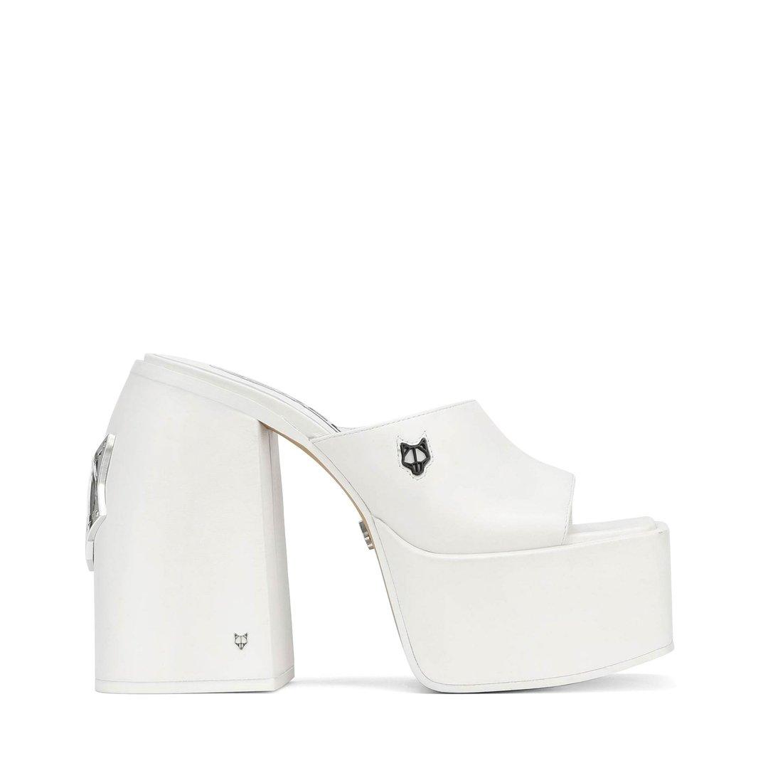Jenna White Leather