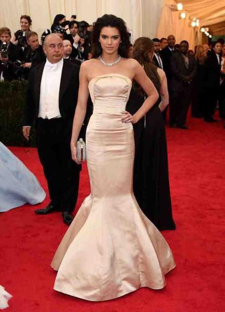 dress kendle jenner silk mermaid prom dress
