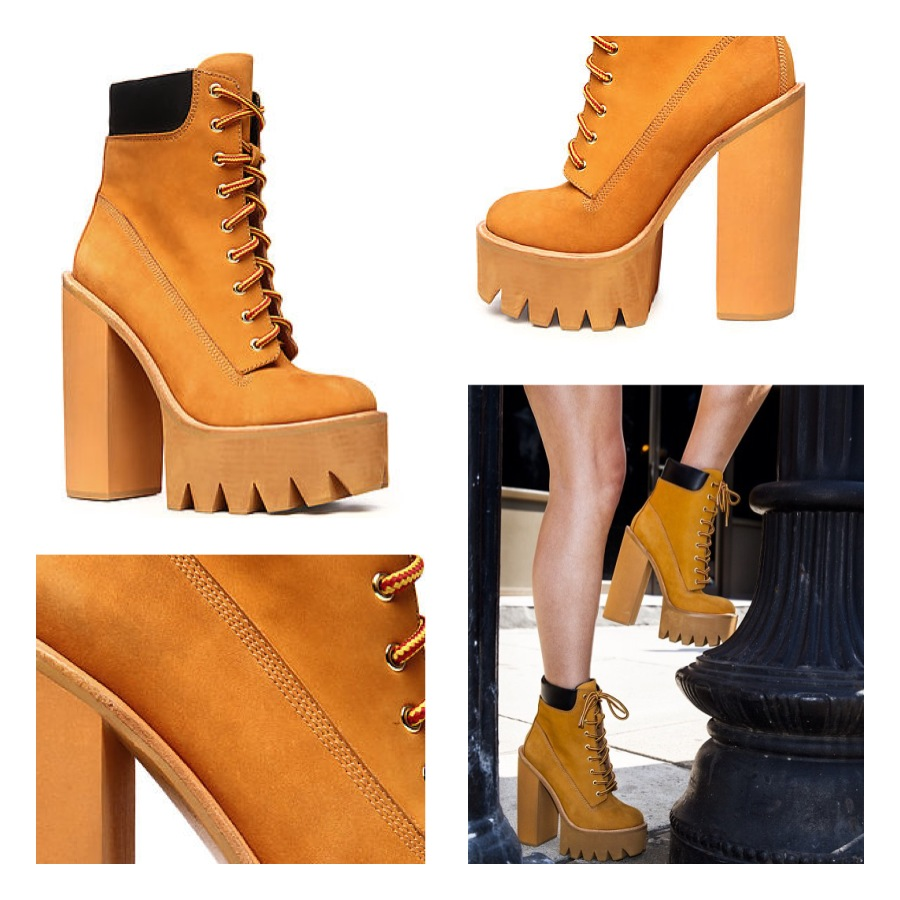 Jeffrey Campbell Wheat Nubuck HBIC Boot