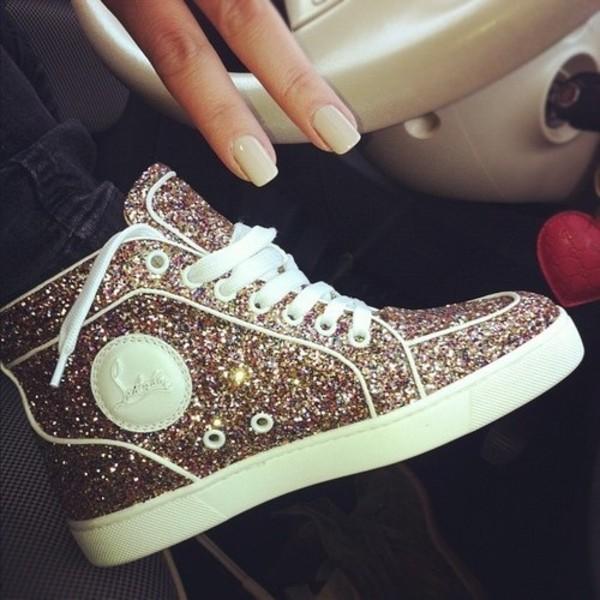 christian louboutins replica - Peony Design ? glitter louboutin sneakers