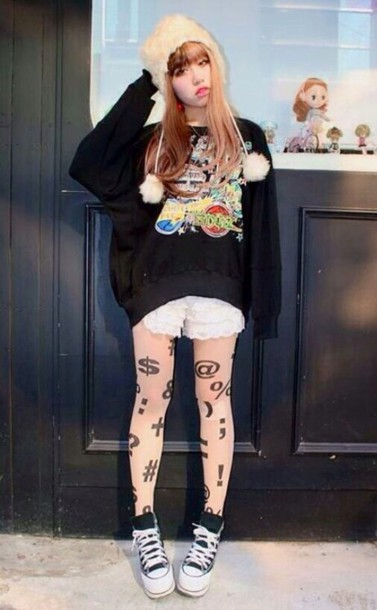 tights random symbols leggings