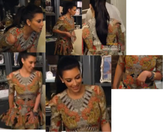dress printed dress kardashians kim kardashian kim kardashian dress keeping up with the kardashians short dress