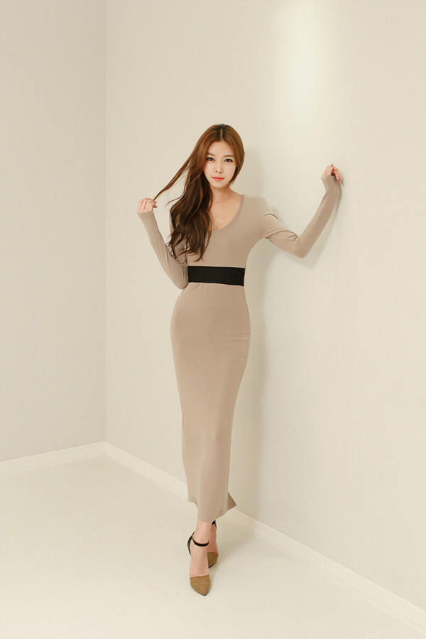 long dress korean fashion simple dress