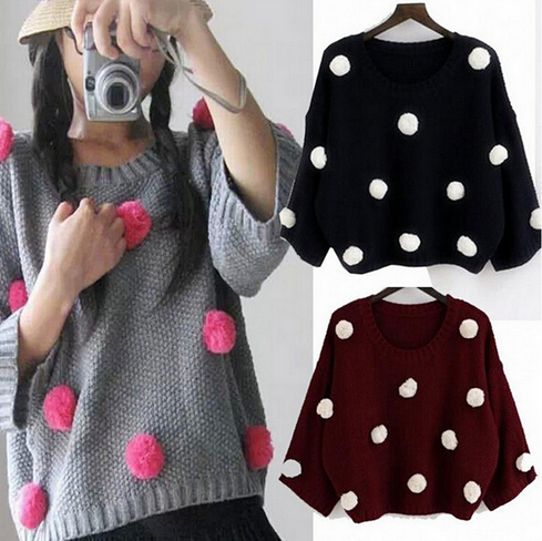 Ball Patchwork Sweater
