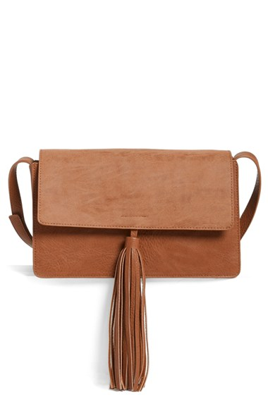 BP. Tassel Faux Leather Crossbody Bag | Nordstrom