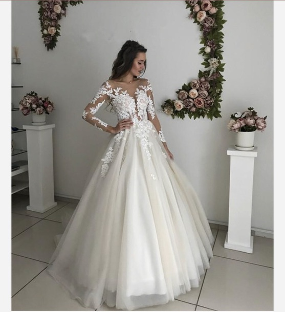 Dress Wedding Dress Lace Dress Tulle Dress White Dress Ivory