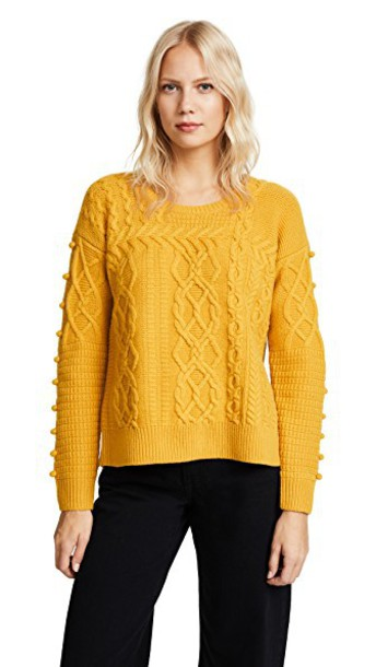 Madewell sweater pullover yellow