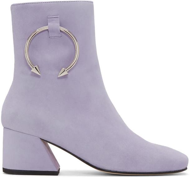 Dorateymur suede purple shoes